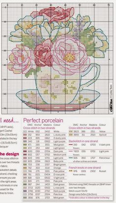 Crochet Knitting Handicraft: Embroidery flowers