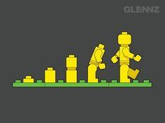evolution of lego man