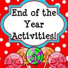 "This cute printable packet has a lot of fun ""End of the Year Activities"" for students to reminisce on their past year. This is great for students to complete and take home on the last day of school as a Memory Book. You can use these as student activities when they finish their work or as a teaching writing lesson. Tons of writing activities for students."