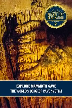 Kentucky's beautiful and unique Mammoth Cave makes for a great day trip for families and nature lovers alike. It belongs on your bucket list! Bucket List Destinations, Travel Destinations, Mammoth Cave, Hidden Beach, Abandoned Buildings, Oh The Places You'll Go, Day Trip, Kentucky, Families