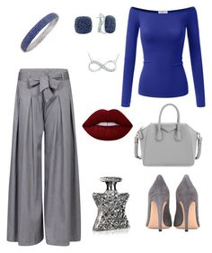 """""""The blue and The grey"""" by sharema-smith on Polyvore featuring Doublju, Gianvito Rossi, Effy Jewelry, Givenchy, Bond No. 9 and Lime Crime"""