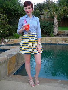 summer drink, summer outfit