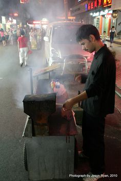 street food vendor in Hunan Province, China