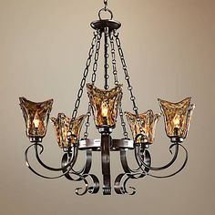 Uttermost Vetraio Collection Five Light Chandelier - #06013 | Lamps Plus