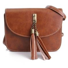 Women Crossbody Bag Fashion Tassel Purse Handbag Crossbody Bag ($5.58) ❤ liked on Polyvore featuring bags, handbags, shoulder bags, newchic, bolsa, brown cross body handbags, hand bags, tassel purse, brown crossbody purse and handbags & purses