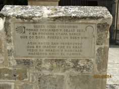 Retired and Roaming: July 2014: Irache monument stone