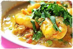 curry crevette et petit pois V