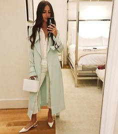 """22k Likes, 283 Comments - Arielle Noa Charnas (@somethingnavy) on Instagram: """"All white for a rainy night """""""