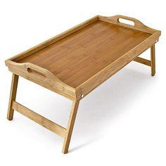 Betttablett Frühstückstablett klappbar Bambus Bett Tisch Tablett Serviertablett