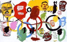 "artpedia: "" Andy Warhol & Jean-Michel Basquiat - Olympics, 1984. Acrylic on canvas """