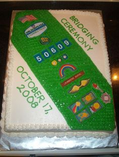 girl scout bridging to junior ceremony   this cake for my daughter's Jr. Girl Scout Troop's bridging ceremony ...