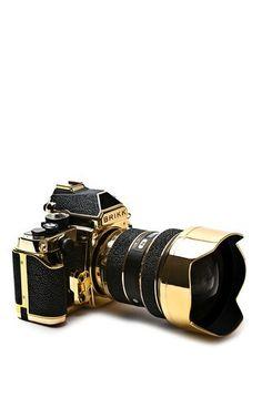 24k gold & stingray lux nikon camera by BRIKK Preorder Now on Moda Operandi