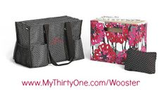 Perfect if you work in an office, but sometimes need to bring a little work home. Store all of your files on your desk in the fold and file, when they need to come home with you safely slide the fold n file into the Zipper Organizing Utility Tote! I love this set! I have every piece of it (at least once).  www.MyThirtyOne.com/Wooster