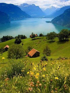 Lake Lucern, Switzerland - would love to visit this country some day. Only got to pass through Switzerland for a day and clearly need to see more.