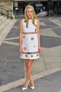 Nicky Hilton at Paris Fashion week.