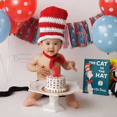 Cutest little Cat in the Hat ever! Candice Berman Photography – Huntington Beach… Cutest little Cat in the Hat ever! Boys First Birthday Party Ideas, Dr Seuss Birthday Party, Birthday Themes For Boys, Baby Boy 1st Birthday, Boy Birthday Parties, Birthday Photos, Dr Seuss Cake, Dr Suess, Cat In The Hat Party
