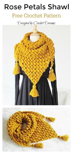 Rose Petals Shawl Free Crochet Pattern The Rose Petals Crochet Scarf with Free PatternsBruinen Shawl [Free Crochet Pattern]Moms Gift Crochet Shawl ,Tea rose Shawl ,Scarf… Crochet Shawls And Wraps, Crochet Scarves, Crochet Clothes, Crochet Hats, Crochet Shawl Free, Crochet Braids, Easy Crochet, Crochet Afghans, Crochet Stitches