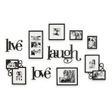 Live Laugh Love Wall Art with Wall Verbs    Display your favorite photos with Wall Verbs. A collection of photo frames and decorative accents to personalize your home. Fills large wall space in any room