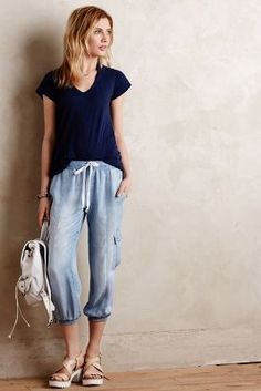 Cloth & Stone Chambray Cargo Joggers #anthrofave