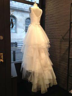 Clarisse Train in the Window // Brooke Gown Bodice // @Karen Willis Holmes #nyc #bridal #karenwillisholmes #KWH