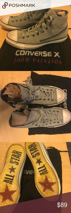 John Varvatos for Converse X men's size 11 John Varvatos for Converse X men's size 11. Almost brand new. You can see from the bottoms they hardly been worn. Intentionally distressed look with zipper for style. John Varvatos Shoes Sneakers