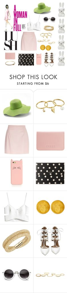 """Make Me A Woman"" by april-vang ❤ liked on Polyvore featuring Emma Watson, KAROLINA, Peter Grimm, Rebecca Minkoff, River Island, Coast, Kate Spade, H&M, Catherine Canino Jewelry and Swarovski"