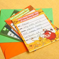 The Lion King Party Invitations | Printables | Spoonful