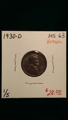 1930-D Lincoln Cent MS63 Brown