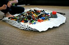 Playmat/Cinch sack for legos...would work for cars, too!