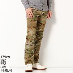 パンツ(カモフラージュ、小花柄テーパードシルエット)   ヴィタル ムッシュニコル(vital MONSIEUR NICOLE)   ファッション通販 マルイウェブチャネル