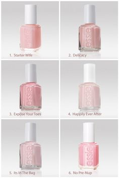 Light Pink Nail Colors for the big day...such a subtle, feminine touch! Us Gracious Bridal gals love Happily Ever After....annnnd No Pre-Nup :)