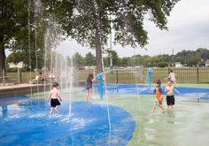 Harbour Island Sprinkler Park in mamaroneck