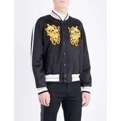 Alexander Mcqueen Skull-embroidered shell bomber jacket (€1.345) ❤ liked on Polyvore featuring men's fashion, men's clothing, men's outerwear, men's jackets, alexander mcqueen mens jacket, mens long jacket, mens sport jackets, mens shell jacket and men's embroidered bomber jacket