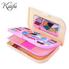 Multifunções espelho colocado, maquiagem conjunto de pincel, blush, sombra de olho, em pó, lip gloss fácil de transportar uma combinação de make-up presente(China (Mainland))