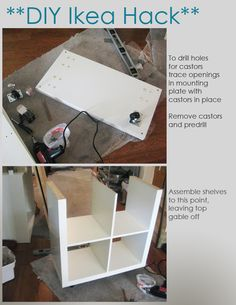 DIY Ikea Hack - Kitchen Island Tutorial - Construction 1