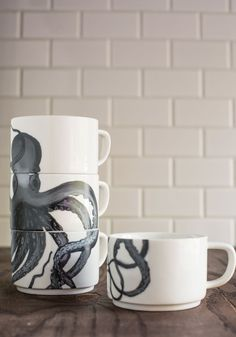 Tentacle Spectacular Mug Set. Your morning cup of coffee becomes a sea-inspired adventure with this octopus mug set by IMM Living! #multi #modcloth