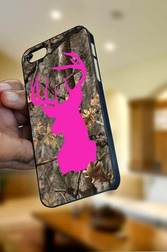 """Deer On Camo iPhone Case Cover """"OPTION PLEASE""""  for iPhone 4/4s or iPhone 5 , Black or White color"""