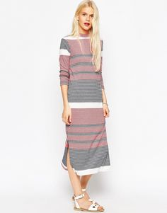 Fall 2015 trend: ASOS+Column+Dress+in+Knitted+Coloured+Stripe