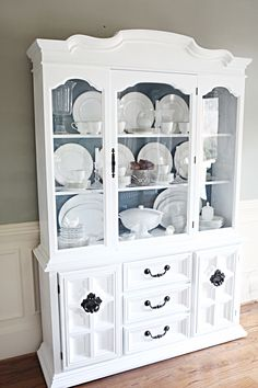 I absolutely love all of Katie's furniture transformations and this china cabinet is no exception.  Gorgeous! @BowerPower