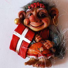 Denmark Troll with Danish Flag