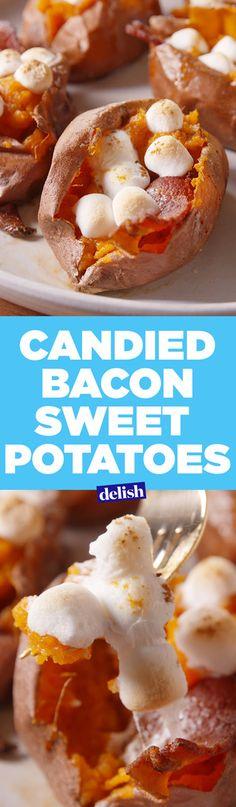 Bacon Candied Sweet Potatoes  - Delish.com