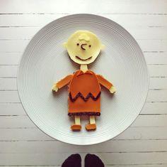 Charlie Brown by Ida Frosk #foodart #funfood