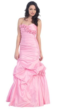 c3dddc374c  Maillsa taffeta strapless prom evening cocktail dress with flowers Delivery  through express. To select the right size
