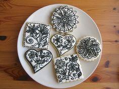 Flower Doodle Cookies