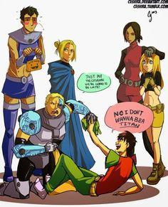 Teen Titans x Shingeki no Kyojin crossover <3
