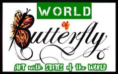 Heraldry of Life: H - World Butterfly - ART with flag of states Butterfly Art, My World, Creativity, Flags, Life, National Flag