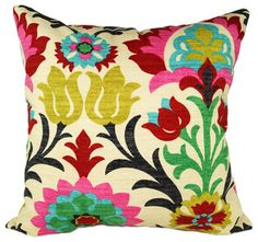 Santa Maria Desert Flower Damask Style Floral Decorative Throw Pillow, 16x16 $22