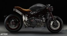 Ducati Monster Cafe Racer - The History of Café Racers - Cafe Racer TV Sportster Cafe Racer, Kawasaki Cafe Racer, Suzuki Cafe Racer, Cafe Racer Logo, Gs500 Cafe Racer, Cafe Racer Helmet, Triumph Cafe Racer, Cafe Racer Bikes, Cafe Racer Motorcycle