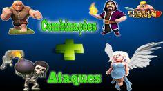 CLASH OF CLANS - COMBINAÇÕES DE ATAQUES #1