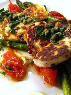 Haloumi and Asparagus: If serving dairy, this haloumi and asparagus side dish is, in a word: awesome.